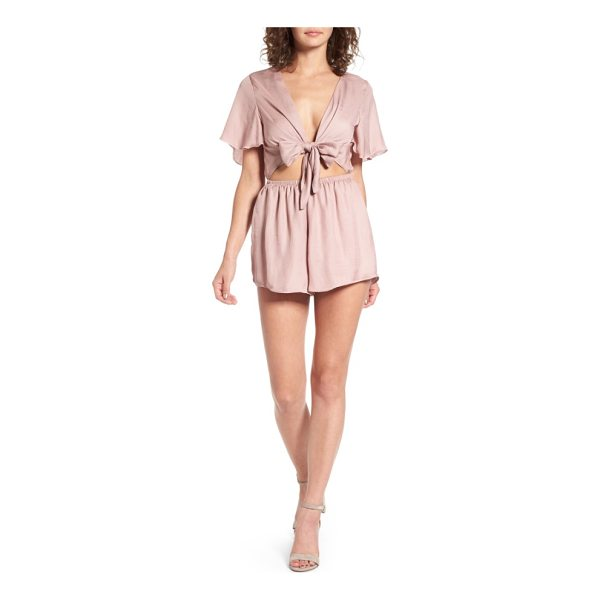 SHOW ME YOUR MUMU gia tie waist romper - Make a retro impression at your next weekend get-together...