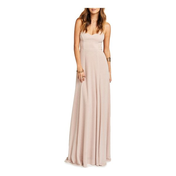 SHOW ME YOUR MUMU godshaw open back gown - Crisscrossed ties lace across the open back of this...