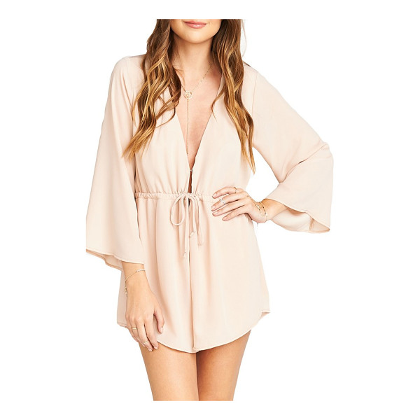 SHOW ME YOUR MUMU roxy plunging tie waist romper - With a cut-to-there neckline and leg-flaunting shorts, a...