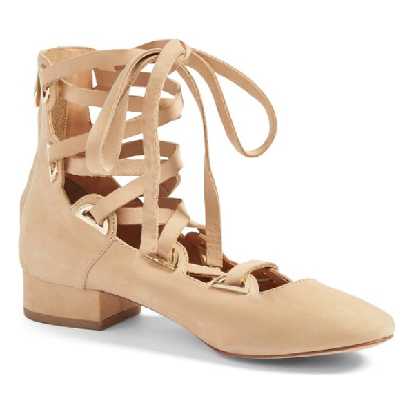 SIGERSON MORRISON hea lace-up pump - Ballerina style with a bit of edge defines a block-heel...