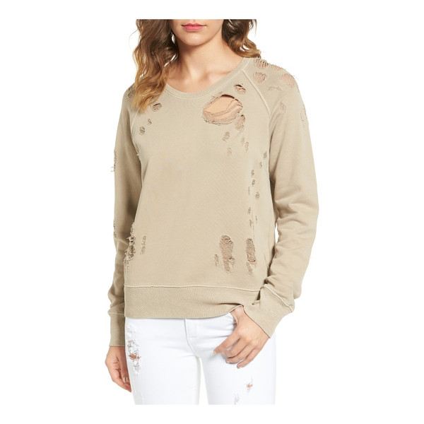 SINCERELY JULES destroyed cotton sweatshirt - Thorough shredding punctuates a comfy cotton pullover with...