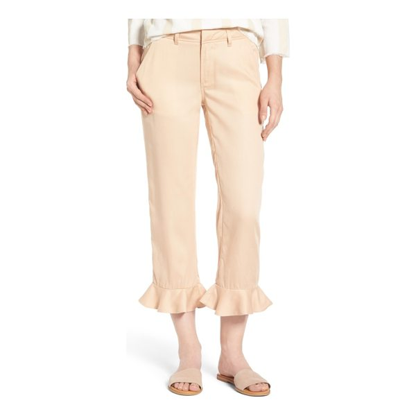 SINCERELY JULES ruffle ankle trousers - Versatile trousers in a soft, fluid fabric get a new frill...