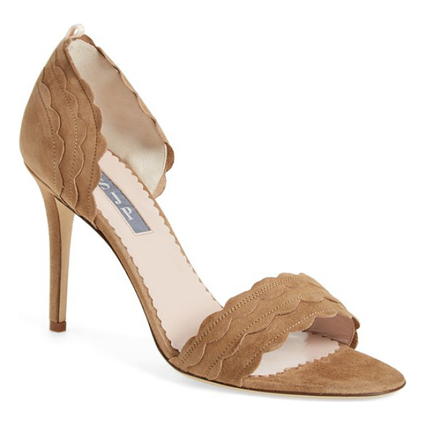 SJP BY SARAH JESSICA PARKER bobbie sandal - Sweet scalloping lends playful, feminine appeal to a...