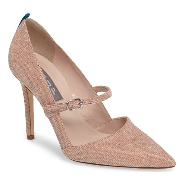 SJP BY SARAH JESSICA PARKER nirvana mary jane pump - A low mary-jane strap and a pointy d'Orsay toe ground a...