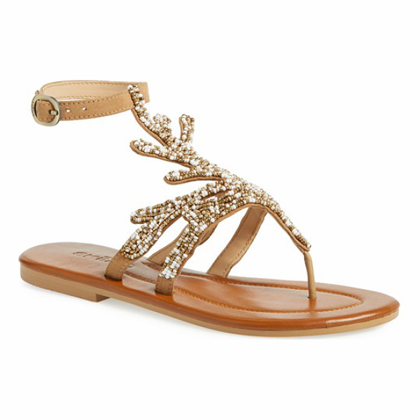 SKEMO java sandal - Meticulous beading and crystal accents highlight the...