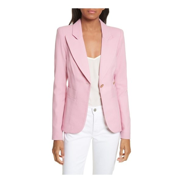 SMYTHE 'duchess' single button blazer - Wide, peaked lapels highlight a beautifully tailored blazer...