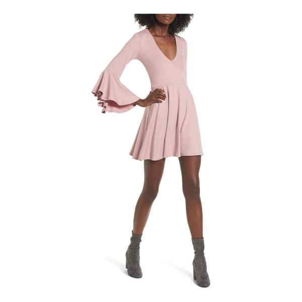 SOCIALITE bell sleeve knit dress - Flowy bell sleeves and a swingy miniskirt add fun movement...