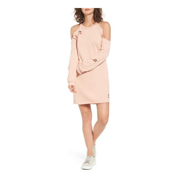 SOCIALITE cold-shoulder sweatshirt dress - Exposed shoulders, a cutout keyhole at the back and...