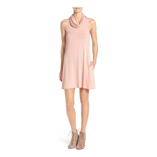 SOCIALITE cowl neck shift dress - Your search for the perfect casual dress that transitions...