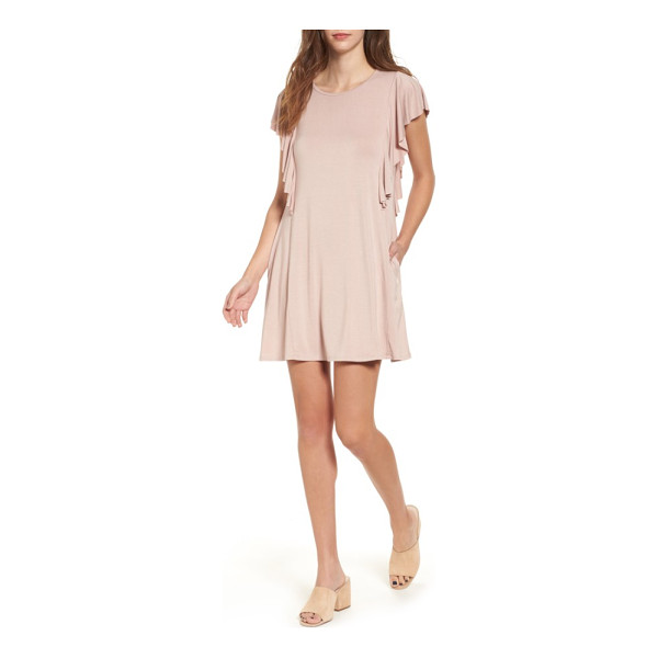 SOCIALITE ruffle sleeve t-shirt dress - Slip your hands into the hidden pockets and sashay around...