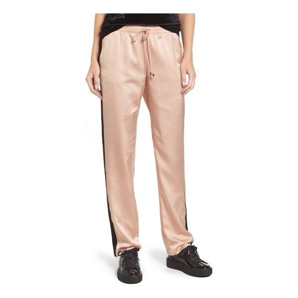SOCIALITE satin track pants - Embrace the athluxury trend with these relaxed,...