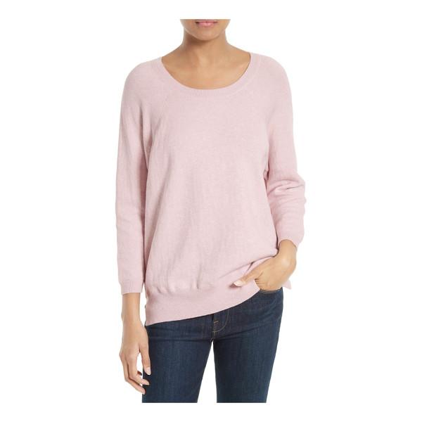 SOFT JOIE aimi cotton blend sweater - A wide crewneck and raglan sleeves define the laid-back...