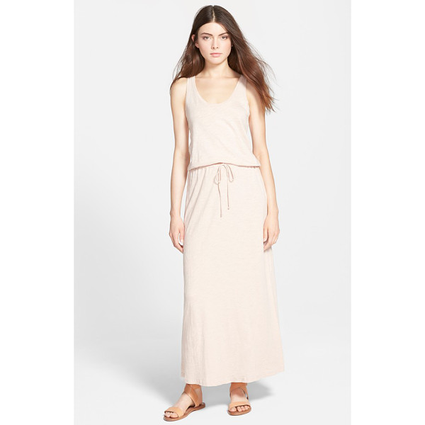 SOFT JOIE dimzni tank maxi dress - Supersoft cotton jersey in a heathered slub knit fashions a...