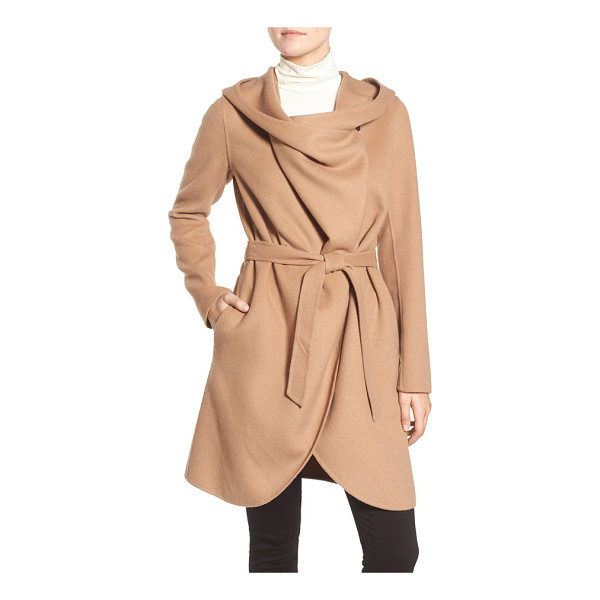 SOIA & KYO reversible double face hooded wrap jacket - Boldly draped, oversized front panels add a witty,...