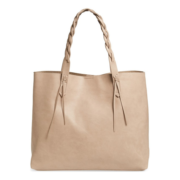 SOLE SOCIETY amal faux leather tote - Braided handles add a fresh element to a spacious...