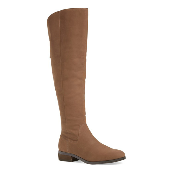 SOLE SOCIETY 'andie' over the knee boot - A clean-cut leather over-the-knee punctuates your street...