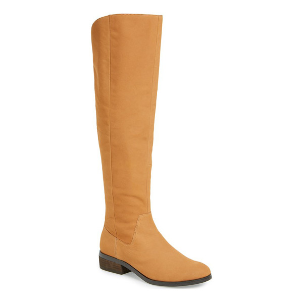 SOLE SOCIETY 'andie' over the knee boot - A clean-cut leather over-the-knee punctuates your street