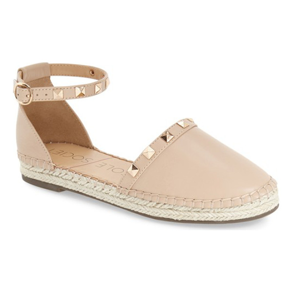 SOLE SOCIETY berlin studded ankle strap espadrille - Gleaming goldtone studs highlight a trend-right espadrille...