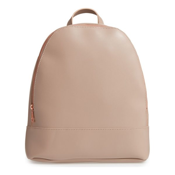 SOLE SOCIETY chester faux leather backpack - A cleanly styled, boxy backpack that's just the thing for...