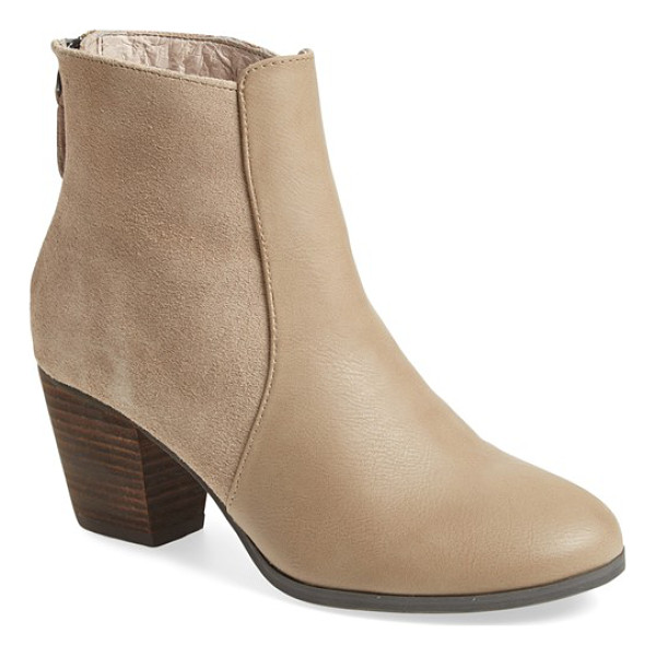 SOLE SOCIETY chris bootie - A stacked heel and round toe amp up the versatility of a...