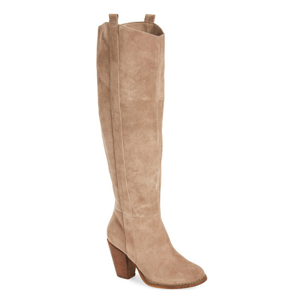 SOLE SOCIETY 'cleo' knee high boot - A svelte almond-toe boot cut from lush suede features a