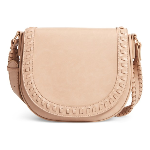 SOLE SOCIETY clovey faux leather saddlebag - Whipstitched trim and a '70s-inspired saddlebag silhouette