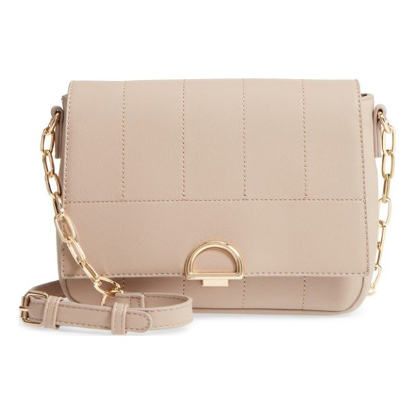 SOLE SOCIETY colie faux leather crossbody bag - Tonal stitching and polished hardware make this...