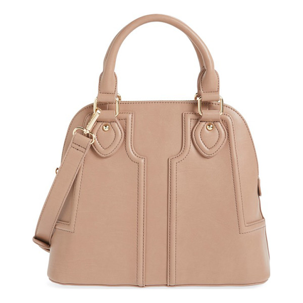 SOLE SOCIETY dome satchel - Supple leather construction accentuates the vintage-chic