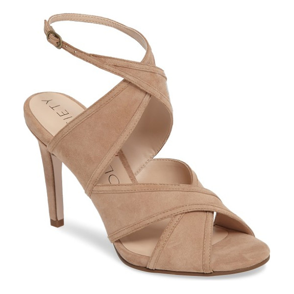 SOLE SOCIETY esme cross strap sandal - Velvety suede straps contour gracefully across the toe and...
