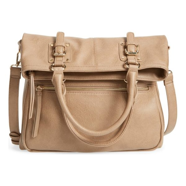 SOLE SOCIETY charlie foldover tote - Wear this chic bag as a crossbody for a classic messenger...