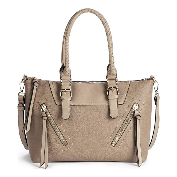 SOLE SOCIETY girard faux leather satchel - Whipstitched top handles and gleaming hardware keep this...