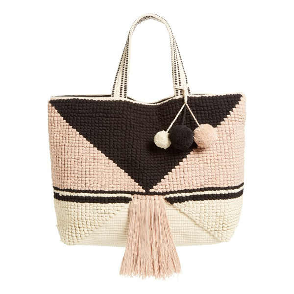 SOLE SOCIETY ibiza tote - Dramatic tassels and pompom embellishments play up the...