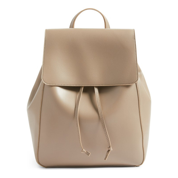 SOLE SOCIETY ivan faux leather backpack - With its just-right size and soft, durable construction,...