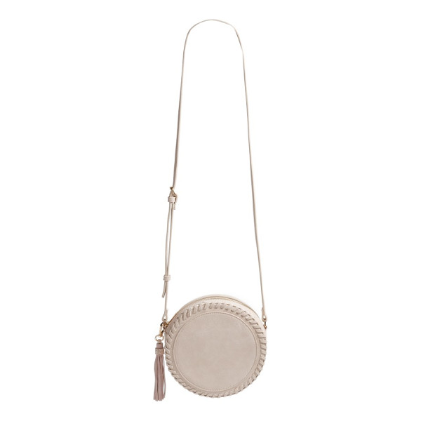 SOLE SOCIETY josa crossbody bag - Tonal whipstitching defines a shimmering, faux-leather...