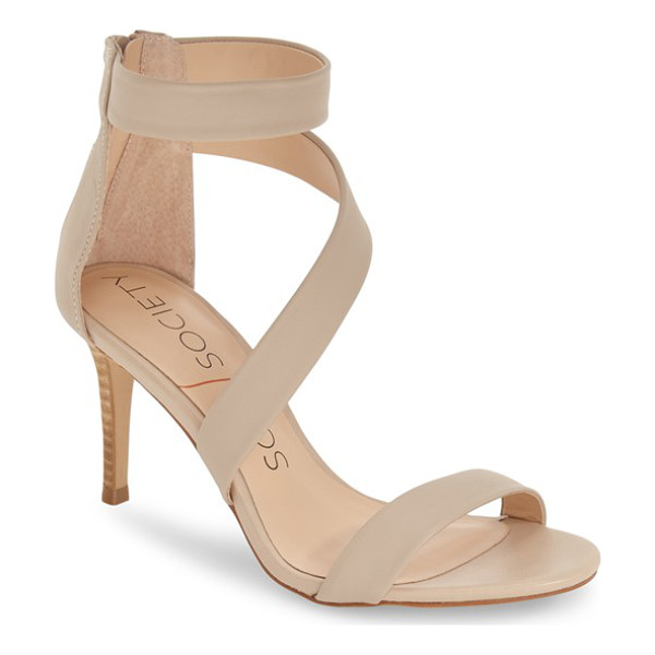 SOLE SOCIETY juliette sandal - A slender stacked heel lifts this pretty open-toe sandal...