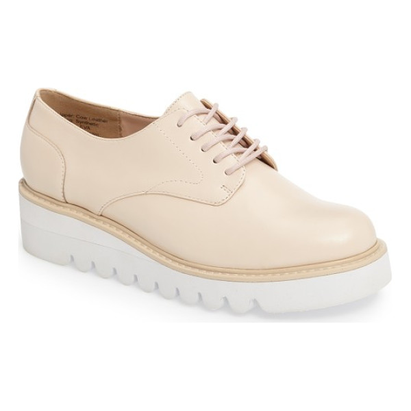 SOLE SOCIETY kennedy platform oxford - A superchunky contrast platform with exaggerated, rippled...