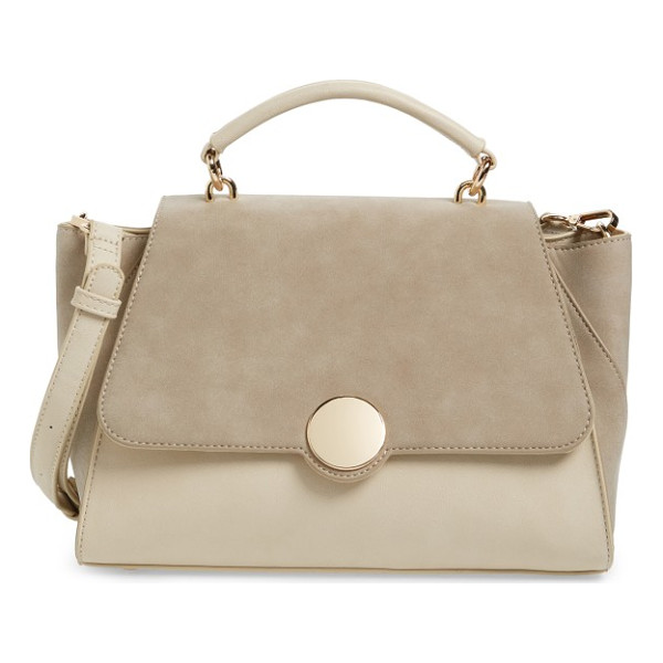 SOLE SOCIETY kenyon faux leather satchel - A structured silhouette defines a roomy faux-leather...