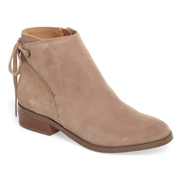 SOLE SOCIETY lachlan tie back bootie - A wrap-style bootie that ties casually in back is accented...