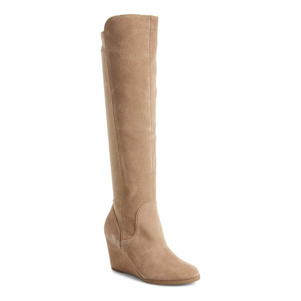 SOLE SOCIETY laila boot - Sueded microfiber back paneling perfects the fit of a tall...