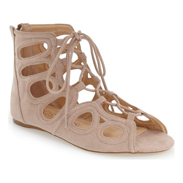 SOLE SOCIETY makena gladiator sandal - Soft faux microsuede and pretty cutouts define this go-to...