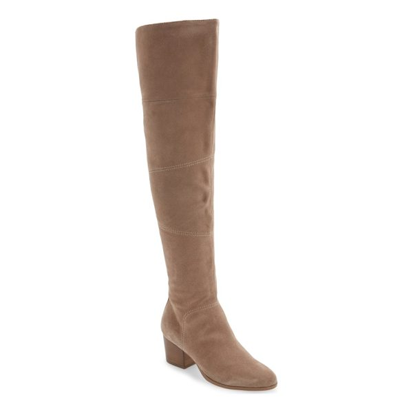 SOLE SOCIETY melbourne over the knee boot - This streamlined, sueded over-the-knee boot goes the extra...