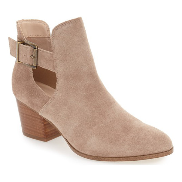 SOLE SOCIETY 'olive' split shaft bootie - Luxe suede envelops this gorgeous almond-toe bootie...