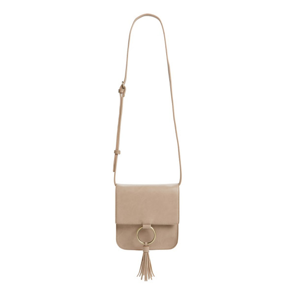 SOLE SOCIETY square crossbody bag - A glinting ring and tassel fringe add eye-catching movement