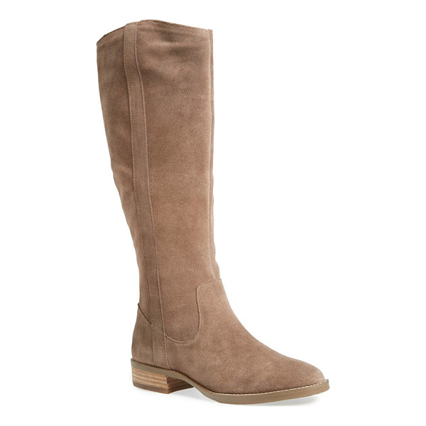 SOLE SOCIETY teba knee high boot - A Western-inspired boot set on a low, stacked heel is...