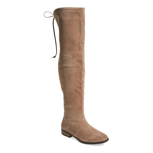 SOLE SOCIETY 'valencia' over the knee boot - Slender contrast ties in back perfect the fit of an...