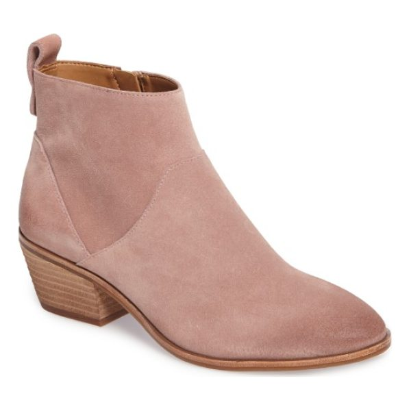 SOLE SOCIETY vixen bootie - A shapely bootie with a trim almond toe is detailed with an...