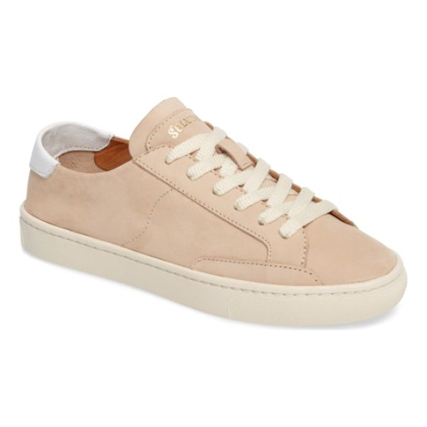 SOLUDOS ibiza sneaker - A low-top sneaker with a smooth leather upper serves as a...