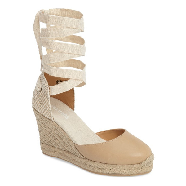 SOLUDOS lace-up espadrille wedge - A true summertime essential, this espadrille wedge gets a...