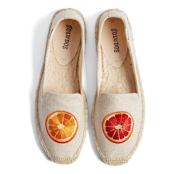 SOLUDOS oranges embroidered espadrille slip-on - A bright embroidered orange slice adds a pop of color and...