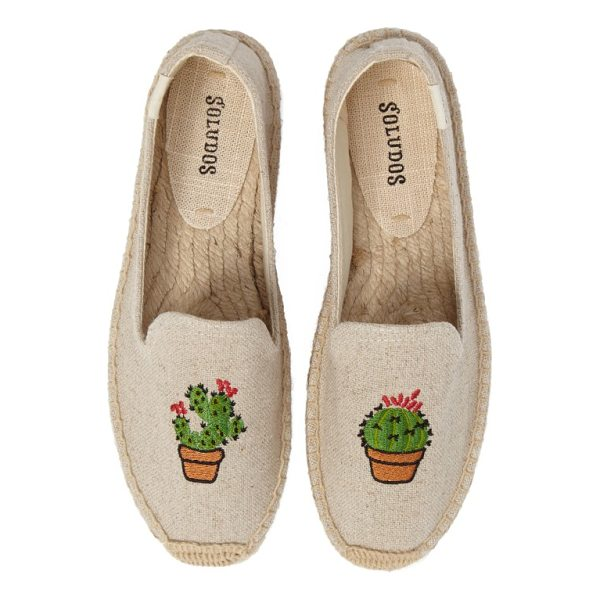 SOLUDOS soludus cactus platform espadrille - Embroidered cacti add Southwest-inspired style to platform...